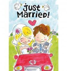Blond Amsterdam Kaart Just Married! Diy Cards Making, Blond Amsterdam, Just Married, Anime, Bullet Journal, Wedding Ideas, Cartoon Movies, Anime Music, Animation