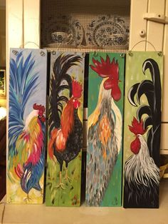 Best 12 Rustic rooster painting rooster wall decor by CottageDesignStudio – SkillOfKing. Rooster Painting, Rooster Art, Tole Painting, Painting & Drawing, Pallet Painting, Pallet Art, Painting On Wood, Chicken Painting, Chicken Art