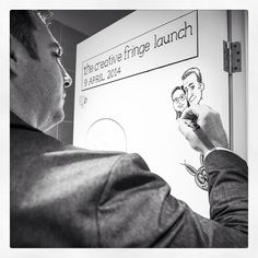 We draw on doors at The Creative Fringe co-working space in Penrith NSW. Www.thecreativefringe.com.au