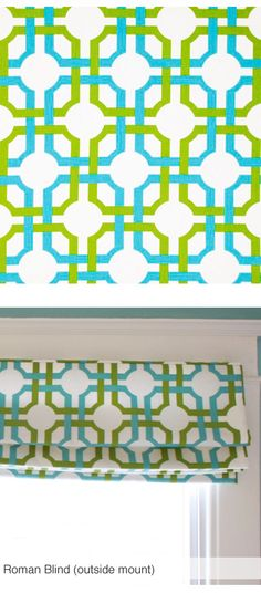 Nice for a roman shade. Groovy Grille, Confetti