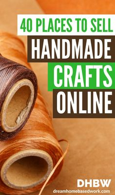 Turn your crafting and artistic hobby to money-making opportunity. Find out which places are the most popular to sell your handmade crafts and art online - without breaking a sweat! hobbie Sell Your Handmade Crafts and Art Online Without Breaking A Sweat Diy Crafts To Sell, Handmade Crafts, Crafts For Kids, Arts And Crafts, Art Crafts, Preschool Crafts, Sell Diy, Craft Ideas To Sell Handmade, Diy Money Making Crafts