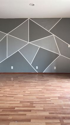 DIY - wall design ideas DIY DIY The post DIY appeared first on Wandgestaltung ideen. DIY – Wandgestaltung ideen 215 Source by Wall Painting Decor, House Painting, Bedroom Wall Designs, Bedroom Decor, Bedroom Murals, Geometric Wall Paint, Geometric Decor, Wall Paint Patterns, Retro Living Rooms