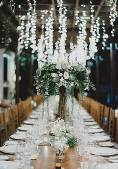 White Magazine. Forest Wedding Reception Style. Ricarda + Erik