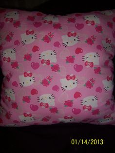 Handmade Hello Kitty throw pillow by MawmaRosesCrafts on Etsy, $15.00