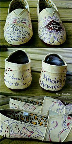 Harry Potter Marauder S Map Slip On Shoes