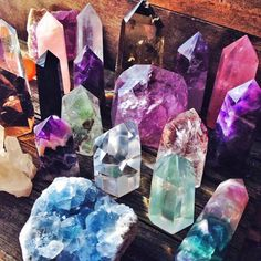 Beautiful crystal points