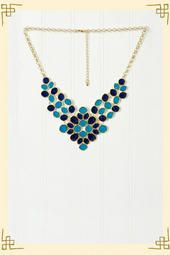 Loooove... Delicate Demeanor Necklace in Blue