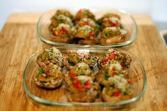 Smitten Kitchen: Sundried Tomato Stuffed Mushrooms