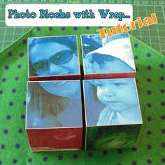 photo blocks--maybe a good kid gift or desktop gift for dad or grandma