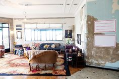 The murals and faded painted walls of Alexandre Herchcovitch's apartment in São Paulo, photographed by Todd Selby, caught my eye.