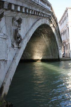 Underneath the Rialto Bridge, Venice