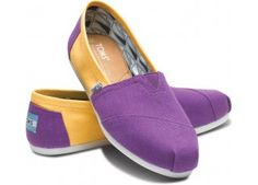 James Madison University Women's Campus Classics | TOMS.com (technically they're LSU but they're cooler as JMU!)