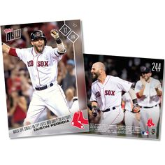 Dustin Pedroia - 06/12/2017 TOPPS NOW CARD 244 - PRINT RUN QTY: 309 CARDS