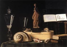 Still Life with Statuette and Shells · Sebastian Stoskopff. - Google Search