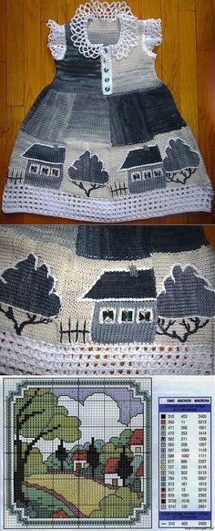 платье спицами, идеи | Вязание для детей | Постила