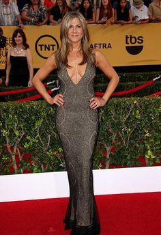 Jennifer Aniston went for vintage Galliano at the 2015 SAG Awards - put them away, Jen.