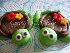 This is so cute!!!    6 fondant turtles EDIBLE by GoodiesByMelissa on Etsy, $16.00