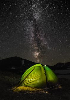 Heaven ... but forget the funky tent. North Dakota is the place you can still lay out in the open and see the stars in real life!