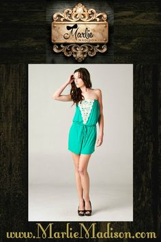 Emerald City Romper in Kelly Green Also available in Navy http://www.marliemadison.com/dresses/rompers/emerald-city-romper