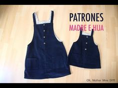 Patrones y costura de pichi para mujeres y niñas (gratis en varias tallas) - YouTube Baby Girl Frocks, Frocks For Girls, Dresses Kids Girl, Girl Outfits, Sewing Baby Clothes, Baby Sewing, Couture Bb, Kids Dress Wear, Kids Dress Patterns