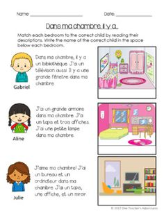 La Maison full unit for Beginner French. Reading, Writing, Speaking, and Listening Acitvities. Vocabulary and Grammar. French Learning Books, Ways Of Learning, French Language Learning, Teaching French, French Slang, French Verbs, French Flashcards, French Worksheets, Curriculum
