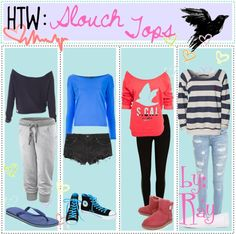 """""""HTW: slouch tops 3"""" by tipsters-and-we-know-it ❤ liked on Polyvore"""