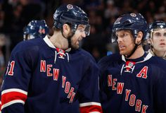 Rick Nash #61 and Brad Richards #19 New York Rangers