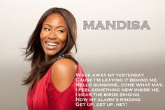 It's a good morning!!  My new morning song it... Love it!! #Mandisa