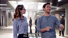 Kara asked Mon El to keep their relationship on the DL...