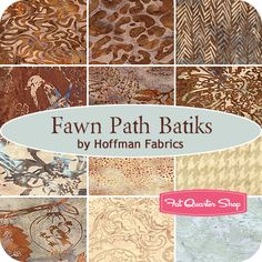 Fawn Path Batiks Fat Quarter Bundle Hoffman Fabrics