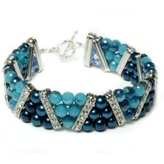 Molly Blue 3-Strand Bracelet | Free Jewelry Patterns | Prima Bead by Jersica