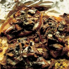 Pork Chops Baked with Wild Mushrooms and Creme Fraiche | Recipes | Delia Online Confit Recipes, Pork Recipes, Recipies, Savoury Recipes, Wild Mushrooms, Stuffed Mushrooms, Stuffed Peppers, Porcini Mushrooms, Creme Fraiche