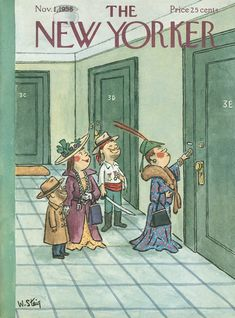 The New Yorker - Saturday, November 1, 1958 - Issue # 1759 - Vol. 34 - N° 37 - Cover by : William Steig