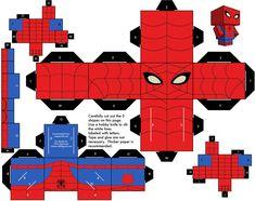 Spiderman: Free Printable Cube Box. - Oh My Fiesta! for Geeks