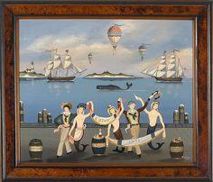 "RALPH EUGENE CAHOON, JR., American, 1910-1982, ""Cotuit 1776"""