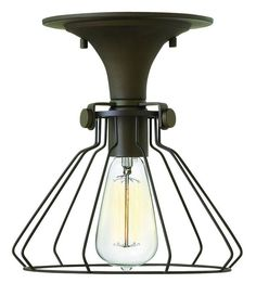 Hinkley Lighting 3114 1 Light Mini Semi-Flush Ceiling Fixture from the Congress Oil Rubbed Bronze Indoor Lighting Ceiling Fixtures Semi-Flush