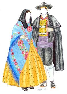 Traje de fiesta de Zaragoza Traditional Dresses, Costumes, Summer, Fashion, Paper, Dresses, Vintage Outfits, Zaragoza, Saint George