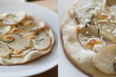 potato rosemary pizza