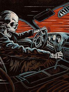 40 Magnificently Morbid Art & Designs Featuring Skulls - Real Time - Diet, Exercise, Fitness, Finance You for Healthy articles ideas Horror Artwork, Skull Artwork, Retro Kunst, Rock Poster, Skeleton Art, Skull Wallpaper, Arte Horror, Dope Art, Arte Pop