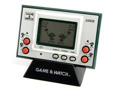 Nintendo Game & Watch Silver Series Judge IP-05 Green MIJ 1980 Great Condition_3 #Nintendo