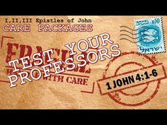 """1 John 4:1-6  """"Test Your Professors"""", Verse by verse expositional bible teaching by Pastor Glen Mustian from Calvary Chapel North in Colorado Springs Colorado. 11/01/15."""