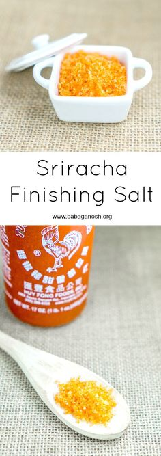 Use this Sriracha Finishing Salt to finish meat, seafood, or veggie recipes and add an oomph of flavor to your dish! Your recipes NEED this finishing salt! Homemade Spices, Homemade Seasonings, Spice Blends, Spice Mixes, Seafood Recipes, Veggie Recipes, Restaurant Recipes, Chicken Recipes, Gourmet Salt