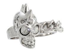 Alexander McQueen Double Knuckle Skull Ring Set 1