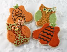 How to decorate owl cookies for Halloween