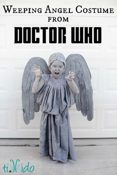 My six year old daughter had a Doctor Who themed birthday party this year--and in fact, what she really wanted was a Weeping Angel party.  She graciously allowed me to do Doctor Who more generally (so as not to completely freak out her other first grade friends), as long as I promised to make her a weeping angel costume for Halloween.