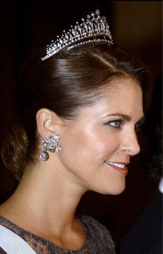 Princess Madeleine glitterz during King's Dinner in honor of Nobel Laureates