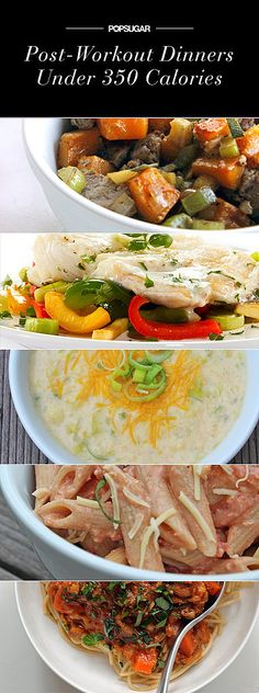 Perfect For Post-Workout: Quick Dinners at 350 Calories or Less. Post-workout or not, it's always good to have some low-cal dishes on hand. Diet Recipes, Cooking Recipes, Healthy Recipes, Delicious Recipes, Healthy Foods, Food For Thought, I Love Food, Good Food, Healthy Cooking