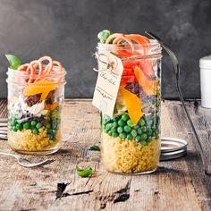 Auch als Pausensnack gut geeignet: Unser Salat im Glas! #snack #salat #mais #edeka