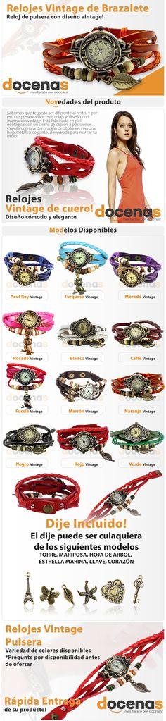 Anuncio, Relojes Vintage. Cliente Docenas. Elaborado por iGrafi