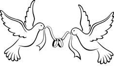 Love Birds Wedding Bands Free Images in Clker Com Vector Clip Art Wedding Doves, Love Birds Wedding, Wedding Cards, Love Birds Drawing, Bird Drawings, Marshmello Wallpapers, Wedding Drawing, Bird Stencil, Wood Burning Patterns